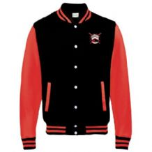 Killyleagh Coastal Rowing Club AWDis Just Hoods Kids Varsity Jacket Jet Black/Fire Red Youth 2019